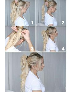 Step by step for faux long pony