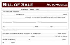 Bill Of Sale Template For Car California Bill Of Sale Template, Sales Template, Pamphlet Template, Journal Template, Free Letterhead Templates, Best Templates, Bill Of Sale Car, Shutterfly Photo Book, Graduation Certificate Template