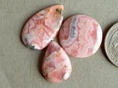 3 Pcs Pink Rhodochrosite Stone,Rhodochrosite Cabochon Gemstone,Handmade Gemstone,Rhodochrosite Finding,Loose Gemstone#11707 by dhorgems on Etsy