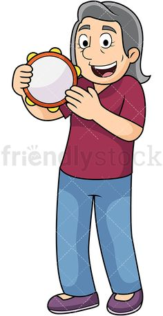 Old Man Playing The Harmonica In 2019 Mature People Clipart Clip