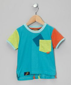 Take a look at this Aqua & Orange Tee - Infant, Toddler & Boys by Kartoons Kataloons on #zulily today!