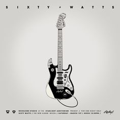 PRINT Nº013 - SIXTY WATTS - Illustrations & Prints by Gianmarco Magnani  #illustration, #print, #music, #guitar, #detail, #rock