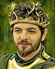 Renly Baratheon Portrait Digital Painting Print Game of Game Of Thrones Artwork, Game Of Thrones Books, Winter Is Here, Winter Is Coming, Knight Of Flowers, Mother Of Dragons, Coming Of Age, Actors & Actresses, Portrait