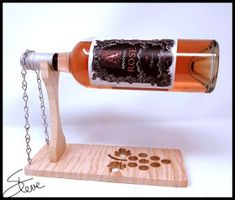Wooden Wine Holder, Wood Wine Bottle Holder, Wine Storage Cabinets, Beer Caddy, Scroll Saw Patterns Free, Candle Craft, Wooden Puzzles, Woodworking Projects Diy, Wine Glass