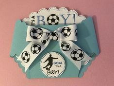 Your place to buy and sell all things handmade Baby Boy Soccer, Soccer Baby Showers, Shower Bebe, Boy Shower, Diaper Invitations, Baby Shower Pictures, Baby Co, Baby Baby, Soccer Theme