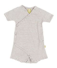 Take a look at this Charcoal Stripe Organic Cooper Romper - Infant by Nui Organics on #zulily today!