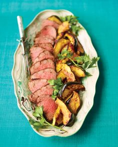 The peppery coating, quick sear, and finish in the oven ensure tender, flavorful results for this beef tenderloin. How to Carve Beef Tenderloin