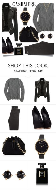 """Untitled #1176"" by kaymeans ❤ liked on Polyvore featuring J.Crew, Citizens of Humanity, Giuseppe Zanotti, Karen Millen, Olivia Burton, Irene Neuwirth, Chanel and Ettika"