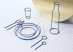 Un service de table insolite, dans lequel chaque élément est facile à distinguer. Du verre à la petite cuillère, rien n'est laissé au hasard.