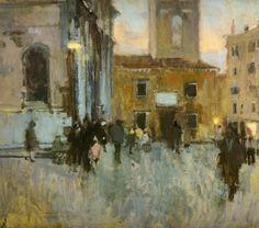 """Walter Sickert, """"Santa Maria Formosa at Dsk"""", oil on canvas"""