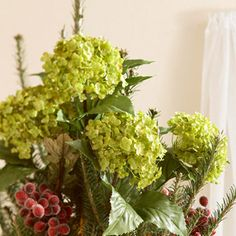 Holly-Hydrangea Tree Topper