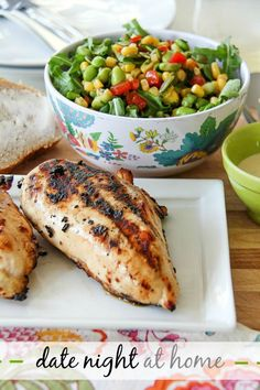 Date Night At Home: A backyard barbecue and delicious lime chili chicken recipe #WheresYourRhino #sponsored