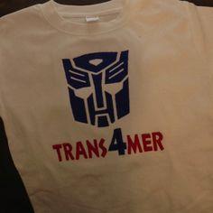 Transformer birthday shirt for Hudsons 4th bday