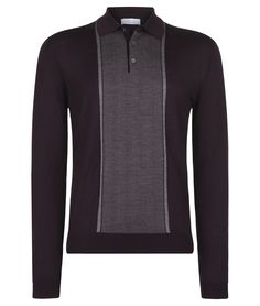 Extra fine merino knitted polo - Clay