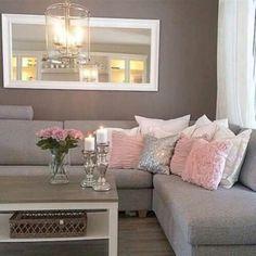 Wohnzimmer in Grau, Rosa und Pink einrichten.   Wohnen in 2018 ...