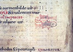 Pisces f. 2v   Psalter with Old English gloss, the Psalms preceded by a calendar and compotus material   England   1099   British Library   Record #: Arundel 60
