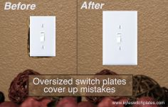 Oversized Switch Plate Covers Simple Jumbo Cover  Kitchen Reno  Pinterest  Light Switch Plates 2017