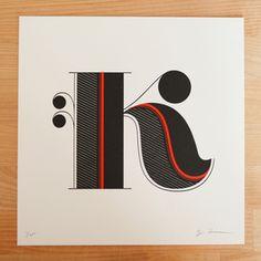 letterpress K