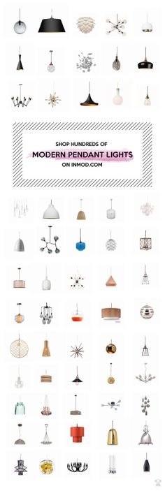 SHOP HUNDREDS OF MODERN PENDANT LIGHT FIXTURES FOR YOUR HOME ON INMOD.COM