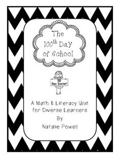 This is a 100th Day of School math and literacy mini unit. It include 8 pages of math and language arts activities, as well as a craft. This mini unit is part of a larger unit that I use with my 3rd-5th grade special needs students. It is developed to be used with a diverse population but can also be used with typical children in the early grades.