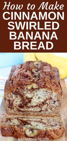 If you're looking for the best banana bread recipe, you're going to love this recipe for Cinnamon Swirled Banana Bread! This Cinnamon Swirled Banana Bread is full of buttery cinnamon sugar throughout the moistest banana bread that's out of this world delicious! Best Bread Recipe, Quick Bread Recipes, Banana Bread Recipes, Baking Recipes, Best Healthy Banana Bread Recipe, Flour Recipes, Muffin Recipes, Cake Recipes, Dessert Recipes