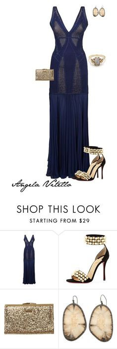 """""""Untitled #809"""" by angela-vitello on Polyvore featuring Hervé Léger, Christian Louboutin, Element and BEA"""
