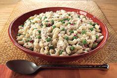 Tuna Pasta Salad  -  I use bow tie pasta and add chopped hard boiled egg