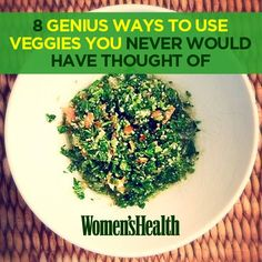 8 Genius Ways to Use Veggies You Never Would Have Thought Of | Women's Health Magazine