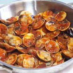 Almejas a la marinera | Recetas de Cocina Casera - Recetas fáciles y sencillas