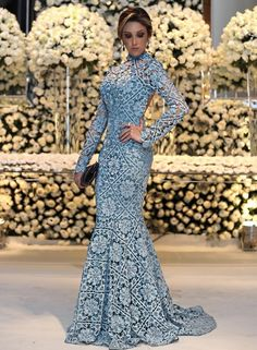 Elegant Light Blue Lace Prom Dresses, Unique Long Sleeves Me.- Elegant Light Blue Lace Prom Dresses, Unique Long Sleeves Mermaid Prom Dresses, Modest Open Back Evening Gowns With Sleeves elegant light blue lace prom dresses, unique long - Unique Prom Dresses, Backless Prom Dresses, Special Dresses, Beautiful Dresses, Formal Dresses, Party Dresses, Evening Gowns With Sleeves, Evening Dresses With Sleeves, Party Wear