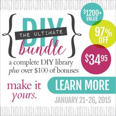 Ultimate DIY Bundle - 76 eBooks & eCourses for less than $35 only available through 1/26/15!
