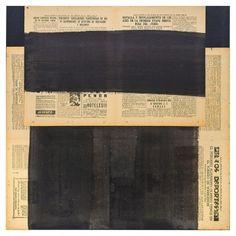 "FAUSTINO AIZKORBE ""COLLAGE"" Técnica collage papel sobre tablero de madera. Año 2002. Medidas: 60 x 60 cm."