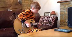 That talent can only come from God!!!!!!!!   10-Year-Old Boy In Tiger Footie Pajamas Plays Guitar Like B.B. King via LittleThings.com