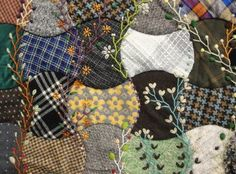 crazy quilt + embroidery...lovely