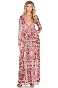 For Love & Lemons Juliet Maxi Dress in Maroon | REVOLVE