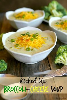 Kicked Up Broccoli-Cheese Soup from NoblePig.com