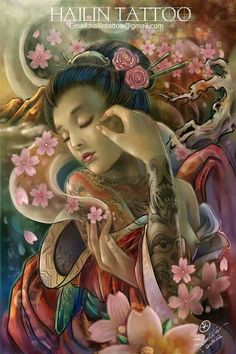 Hailin fu geisha painting