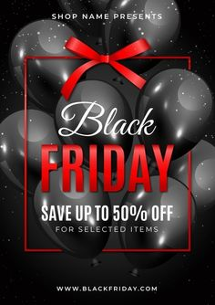 Realistic black friday flyer template. Download it at freepik.com! #Freepik #freevector #flyer #business #template Flyer Template, Black Friday, Vector Free, Graphic Design, Templates, Business, Brochures, Free Vector Art, Stencils