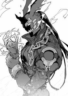 I immediately thought Alphonse Character Concept, Character Art, Concept Art, Dark Fantasy Art, Fantasy Artwork, Fantasy Characters, Anime Characters, Manga Art, Anime Art