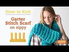 Zippy Loom - Garter Stitch Scarf, complete pattern - YouTube