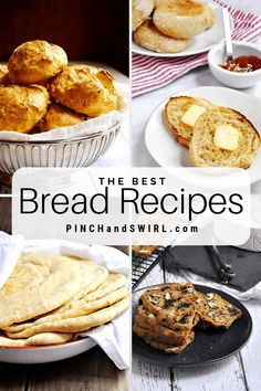 Have you ever considered making your pita bread from scratch or how about whole wheat tortillas or even homemade English muffins? Then you've come to the right place! These bread recipes are sure to please! English Muffin Recipes, Homemade English Muffins, Oatmeal Banana Bread, Easy Banana Bread, Mexican Food Recipes, Real Food Recipes, Basic Bread Recipe, Easy Make Ahead Appetizers, Easy French Recipes