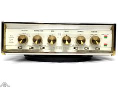 The completely retro Sherwood S tube amplifier. Recording Equipment, Audio Equipment, Valve Amplifier, High End Audio, Audiophile, Turntable, Custom Design, Technology, Vintage