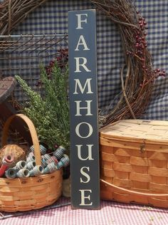 """Farmhouse painted wood sign 3.5"""" x 24"""" choice of color"""