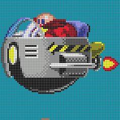 Dr Robotnik - Sonic perler pixel pattern by 8bitofeverything
