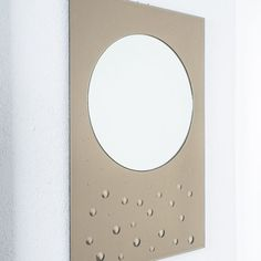 Bubble Mirror Large Smoked Mirror with Convex Bubble Dots Beautiful Mirrors, Round Mirrors, Mid Century Modern Design, Midcentury Modern, Bubbles, Dots, Smoke, Space Age, Glass