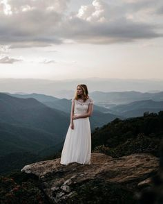 Breathtaking views for an equally gorgeous #BHLDNbride (📷: @samwisefloyd   link in bio to shop the Delia Maxi Skirt, Darla Camisole, + Seville Topper)
