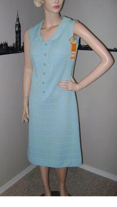 Fabulous multi colour print vintage 1960s crimplene mod dress