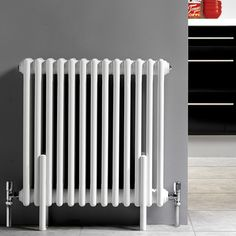 Our guide to choosing your heating emitters for your home, including the pros and cons of radiators and underfloor heating Home Radiators, Bathroom Radiators, Column Radiators, Cast Iron Radiators, Traditional Towel Radiator, Traditional Radiators, Horizontal Radiators, Designer Radiator, Grey Walls