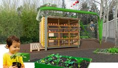 The Green Lab is a small educational centre built to get kids interested in gardening, horticulture and the environment, inside a garden centre in the north of Madrid. A space where workshops and other educational activities can be carried out combined with an outdoor play area. (by PlayOffice)