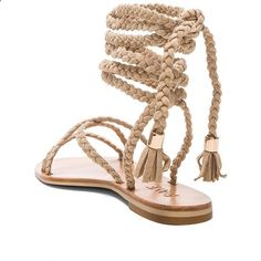 Sandals Summer Raye Sadie Gladiator Sandal in Nude ❤ liked on Polyvore featuring shoes, sandals, lace-up gladiator sandals, summer sandals, braided sandals, wrap sandals and nude flat shoes - There is nothing more comfortable and cool to wear on your feet during the heat season than some flat sandals.
